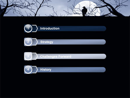 Moonlit Tree Free PowerPoint Template Slide 3