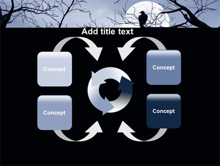 Moonlit Tree Free PowerPoint Template Slide 6