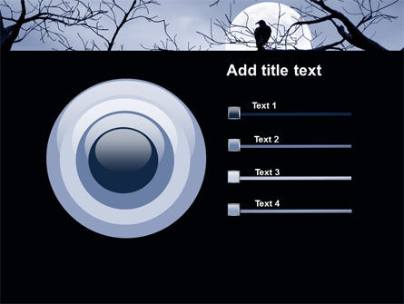 Moonlit Tree Free PowerPoint Template Slide 9