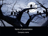 Moonlit Tree Free PowerPoint Template#1