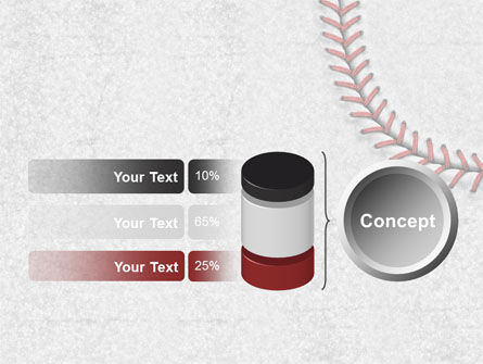 Baseball Stitching PowerPoint Template Slide 11