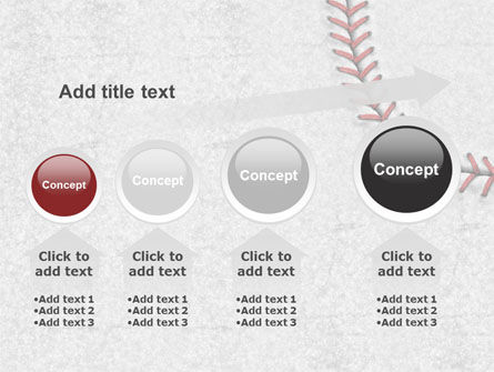 Baseball Stitching PowerPoint Template Slide 13