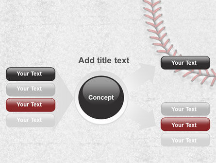 Baseball Stitching PowerPoint Template Slide 14