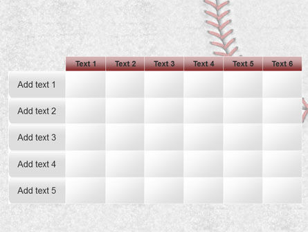 Baseball Stitching PowerPoint Template Slide 15