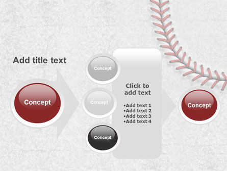 Baseball Stitching PowerPoint Template Slide 17