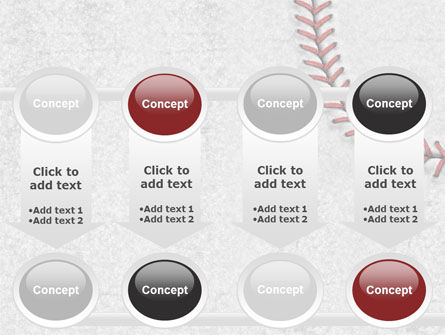 Baseball Stitching PowerPoint Template Slide 18