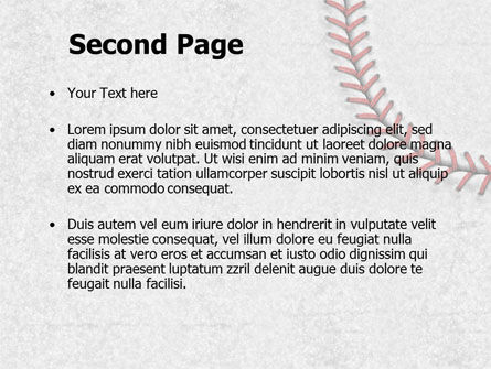 Baseball Stitching Powerpoint Template Backgrounds