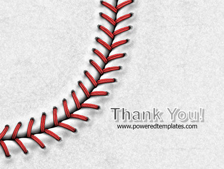 Baseball Stitching PowerPoint Template Slide 20