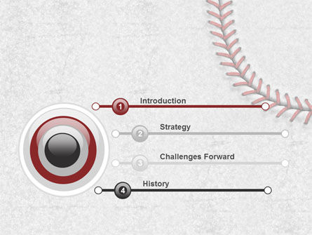 Baseball Stitching PowerPoint Template Slide 3