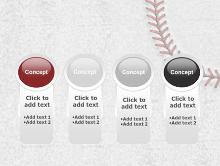 Baseball Stitching PowerPoint Template Slide 5