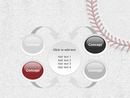 Baseball Stitching PowerPoint Template Slide 6