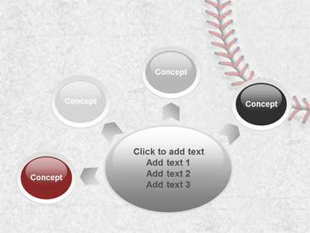 Baseball Stitching PowerPoint Template Slide 7