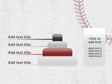 Baseball Stitching PowerPoint Template Slide 8