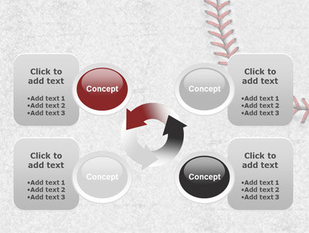 Baseball Stitching PowerPoint Template Slide 9