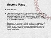 Baseball Stitching PowerPoint Template#2