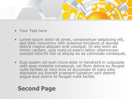 Orange Network Theme PowerPoint Template, Slide 2, 08206, Technology and Science — PoweredTemplate.com