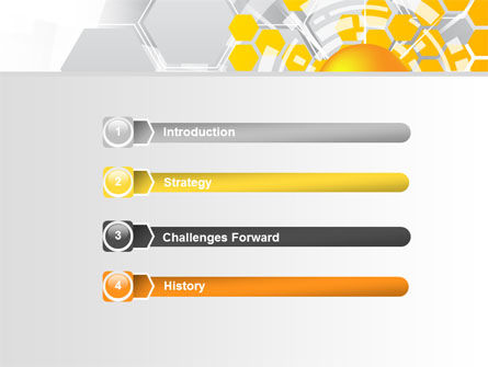 Orange Network Theme PowerPoint Template, Slide 3, 08206, Technology and Science — PoweredTemplate.com