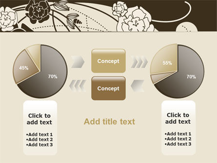 Brown Floral Ornament PowerPoint Template Slide 11