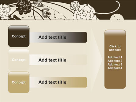 Brown Floral Ornament PowerPoint Template Slide 12