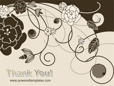 Brown Floral Ornament PowerPoint Template Slide 20