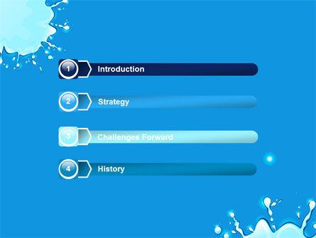 Blue Blots Free PowerPoint Template, Slide 3, 08208, Abstract/Textures — PoweredTemplate.com