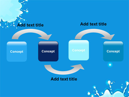Blue Blots Free PowerPoint Template, Slide 4, 08208, Abstract/Textures — PoweredTemplate.com