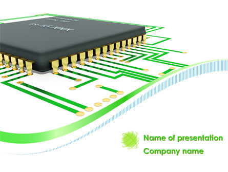 Technology and Science: Processor Chip PowerPoint Template #08209
