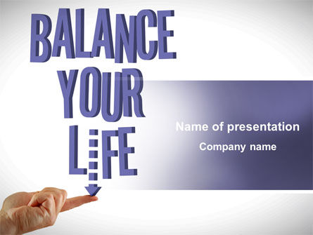 Balanced Life PowerPoint Template, 08210, Education & Training — PoweredTemplate.com