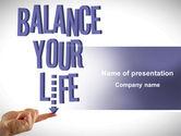 Education & Training: バランスのとれた生活 - PowerPointテンプレート #08210