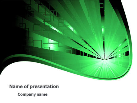 Green Light Free PowerPoint Template, 08212, Abstract/Textures — PoweredTemplate.com