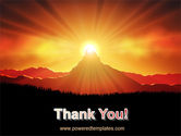 Sunrise in Mountains PowerPoint Template#20