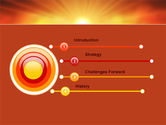 Sunrise in Mountains PowerPoint Template#3