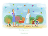 Education & Training: Mothers PowerPoint Template #08217