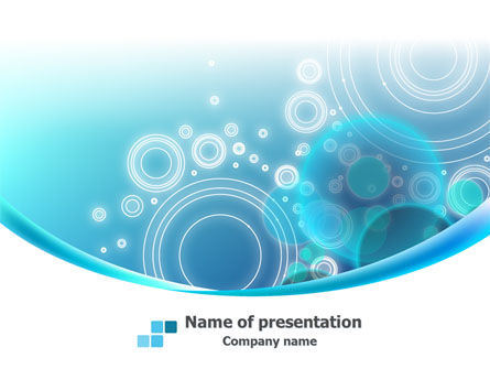 Teal Cycle PowerPoint Template