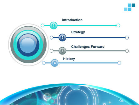 Teal Cycle PowerPoint Template Slide 3