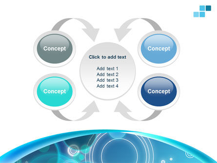 Teal Cycle PowerPoint Template Slide 6