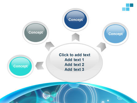 Teal Cycle PowerPoint Template Slide 7