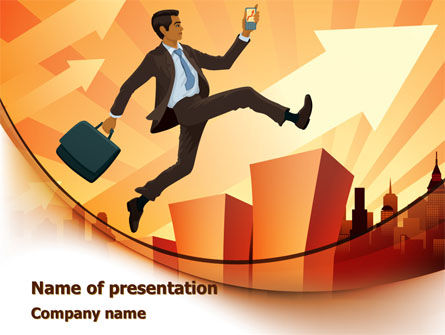 Business Career Development PowerPoint Template, 08222, Business — PoweredTemplate.com