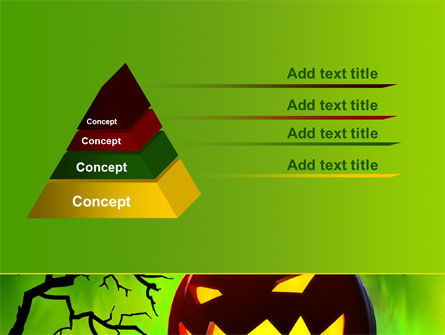 Jack-o-lantern On Scary Green Background PowerPoint Template Slide 12