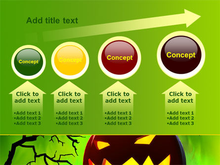 Jack-o-lantern On Scary Green Background PowerPoint Template Slide 13