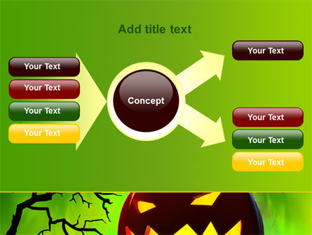 Jack-o-lantern On Scary Green Background PowerPoint Template Slide 14