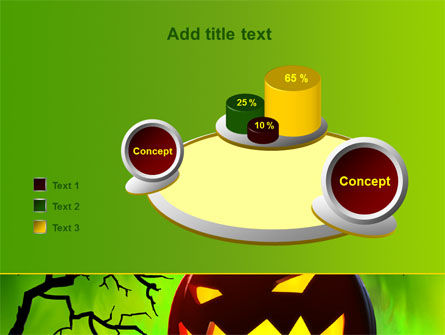 Jack-o-lantern On Scary Green Background PowerPoint Template Slide 16