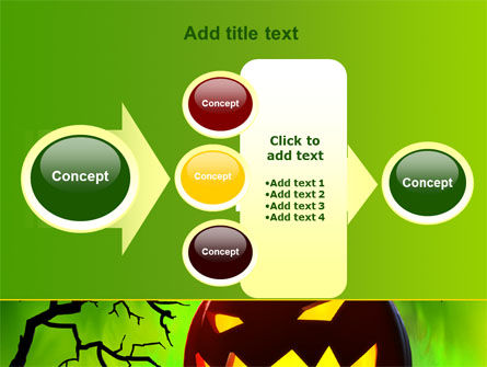 Jack-o-lantern On Scary Green Background PowerPoint Template Slide 17