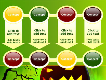 Jack-o-lantern On Scary Green Background PowerPoint Template Slide 18