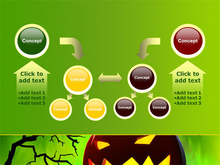 Jack-o-lantern On Scary Green Background PowerPoint Template Slide 19