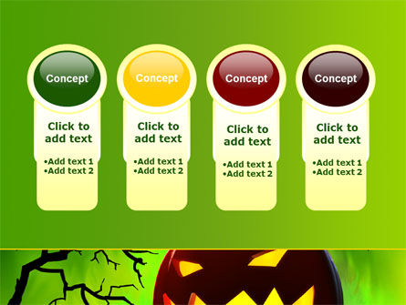 Jack-o-lantern On Scary Green Background PowerPoint Template Slide 5