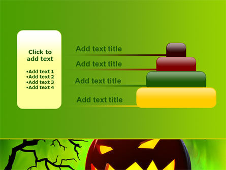Jack-o-lantern On Scary Green Background PowerPoint Template Slide 8
