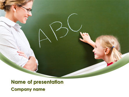 Writing the Alphabet Free PowerPoint Template