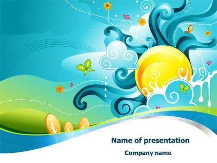 Fantastic World Illustration PowerPoint Template