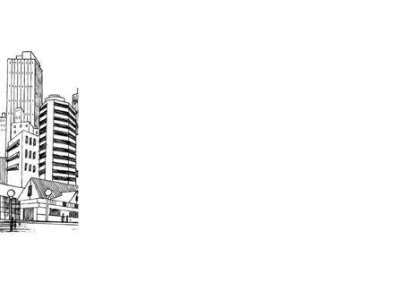 City Architecture Sketch PowerPoint Template, Slide 3, 08228, Construction — PoweredTemplate.com